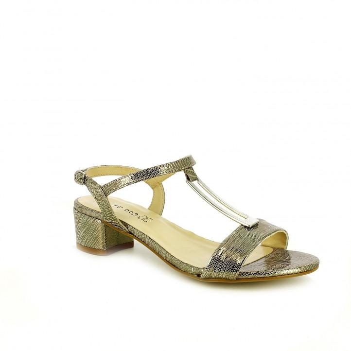 zapatos de fiesta / sandalias tacon suite009 metalizadas print de piel