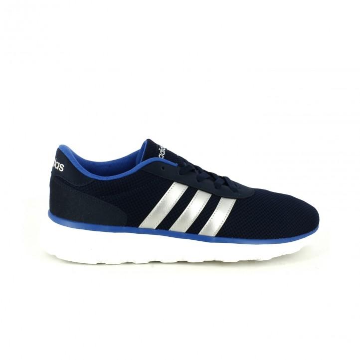 deportivas adidas neo azules y plateadas