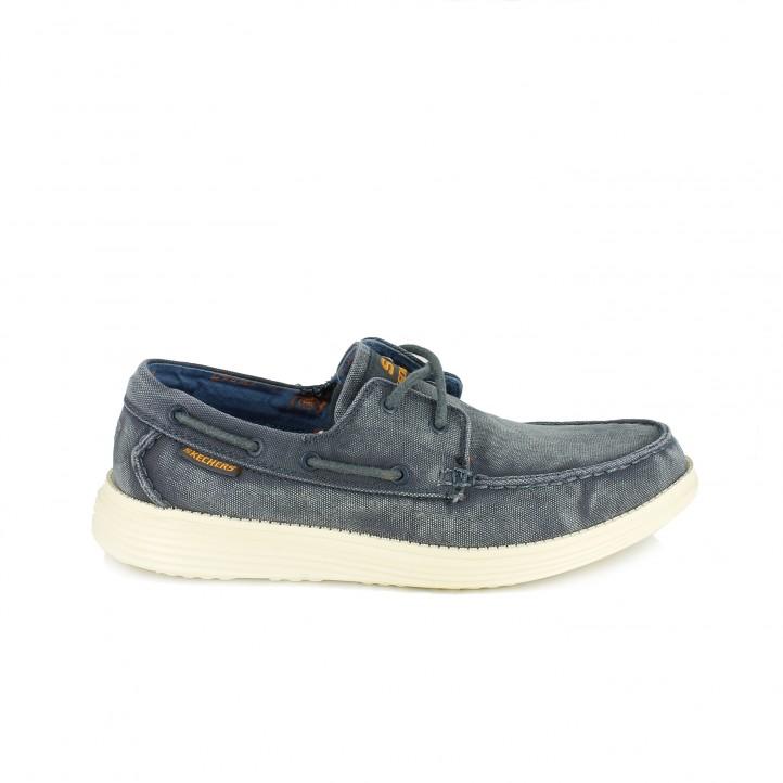 zapatos sport skechers azules con memory foam