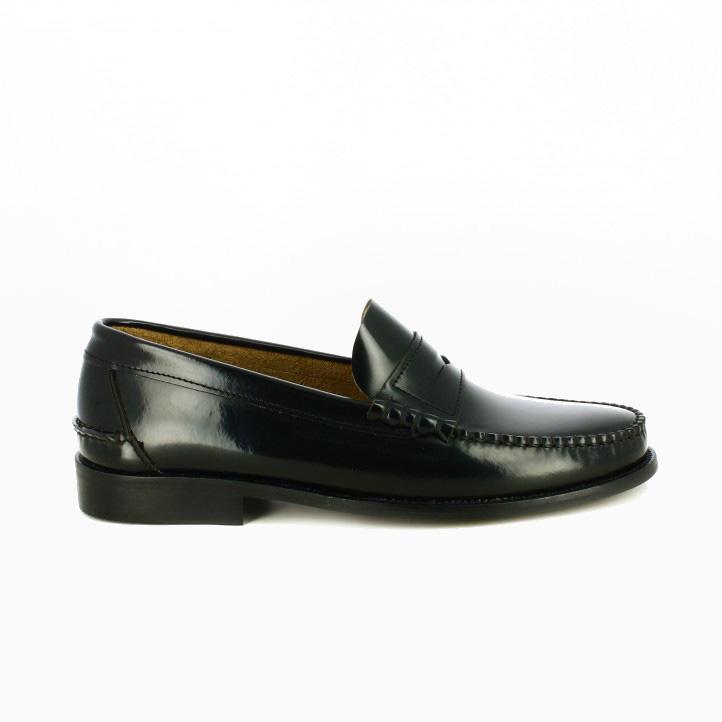 zapatos vestir carlo torrecci mocasines negros de piel