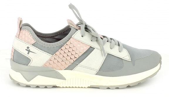 zapatillas deportivas tamaris grises y rosas / operación bikini