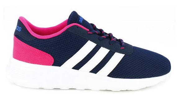 zapatillas deportivas Adidas lite racer w azules y rosas
