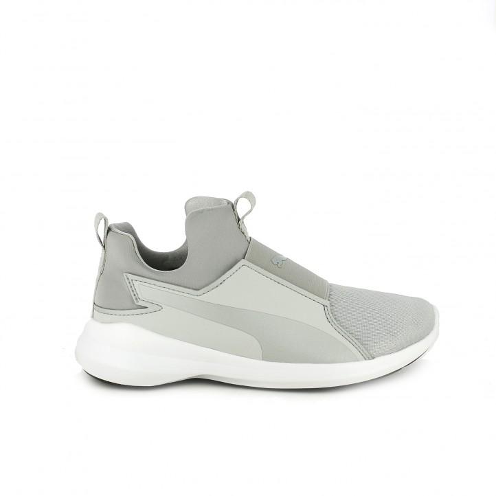 zapatillas deportivas puma rebel mid wns grises
