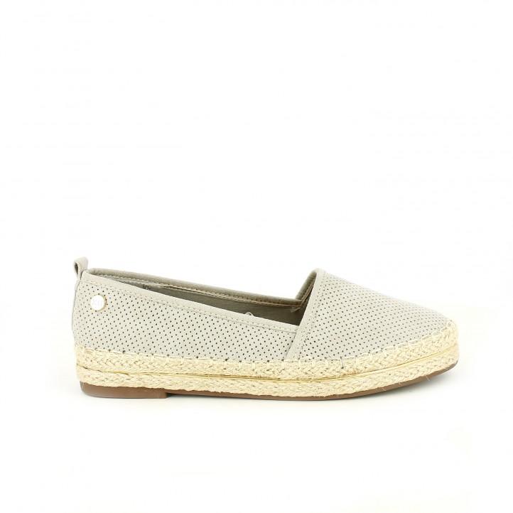 diccionario de zapatos: alpargatas xti grises