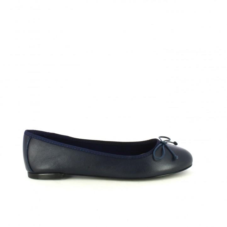 diccionario de zapatos: bailarinas suite009 azul marino