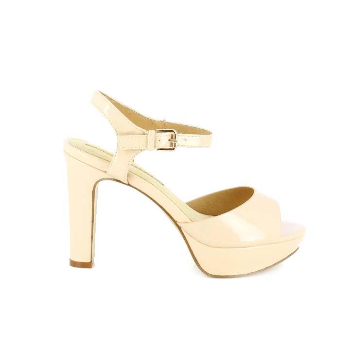 diccionario de zapatos: sandalias tacon maria mare nude de charol