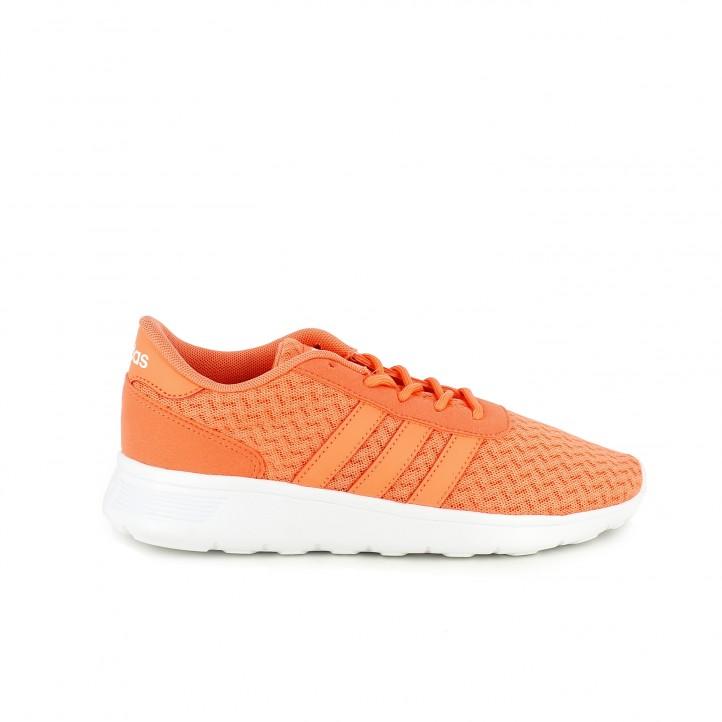 zapatillas deportivas adidas lite racer w naranjas