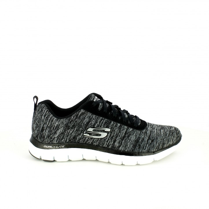zapatillas deportivas skechers grises con memory foam