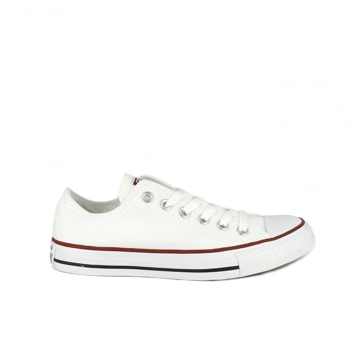 zapatillas lona converse all star blancas