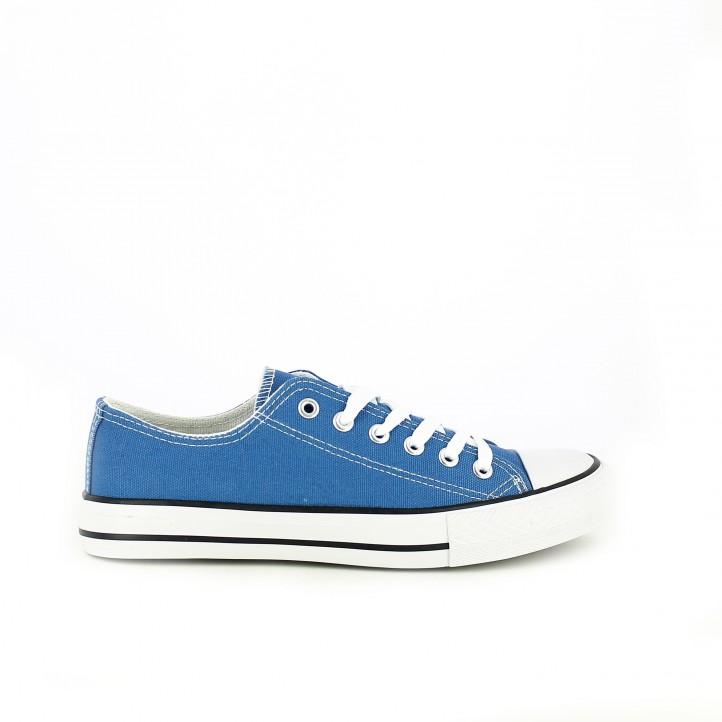 zapatillas lona you too azules y blancas