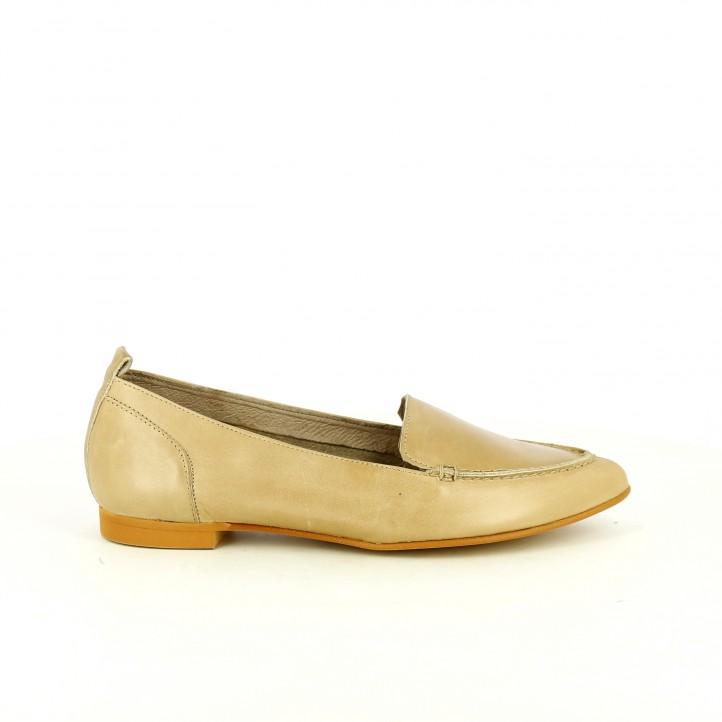 zapatos planos wonders mocasines marrones