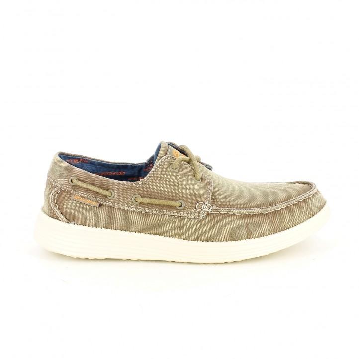 zapatos sport skecher marrones con memory foam