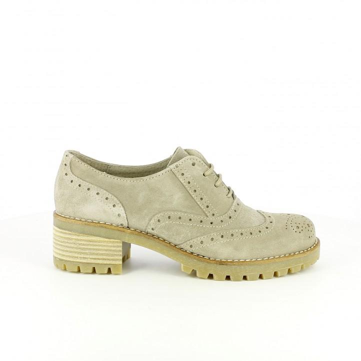zapatos tacon redlove oxford de piel con brogue