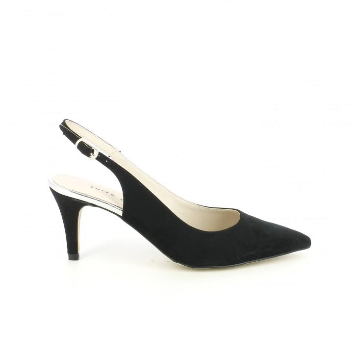 zapatos tacon suite009 negros tobillos descubiertos