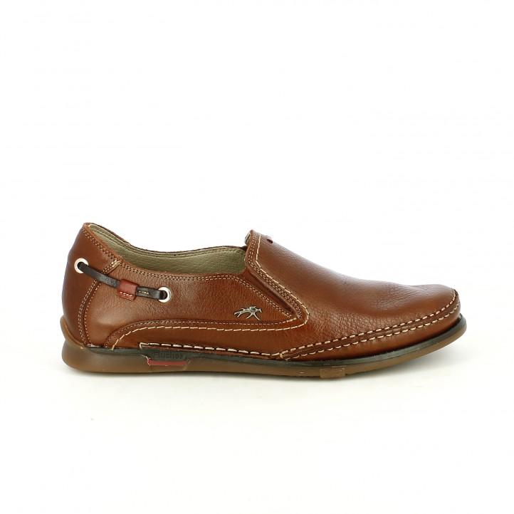 zapatos vestir fluchos marrones de piel con elasticos