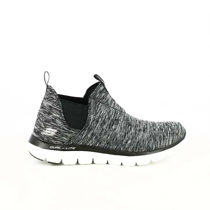 zapatillas deportivas skechers grises con elásticos