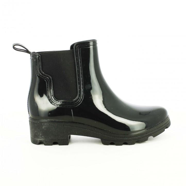 botas agua owel chelsea negras