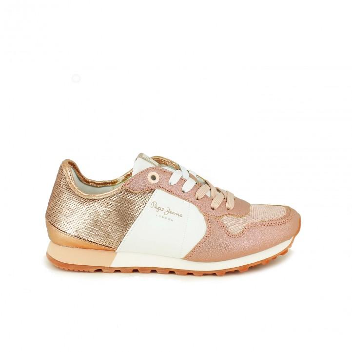 Zapatillas deportivas Pepe Jeans rosas con lentejuelas - zapatillas rosa