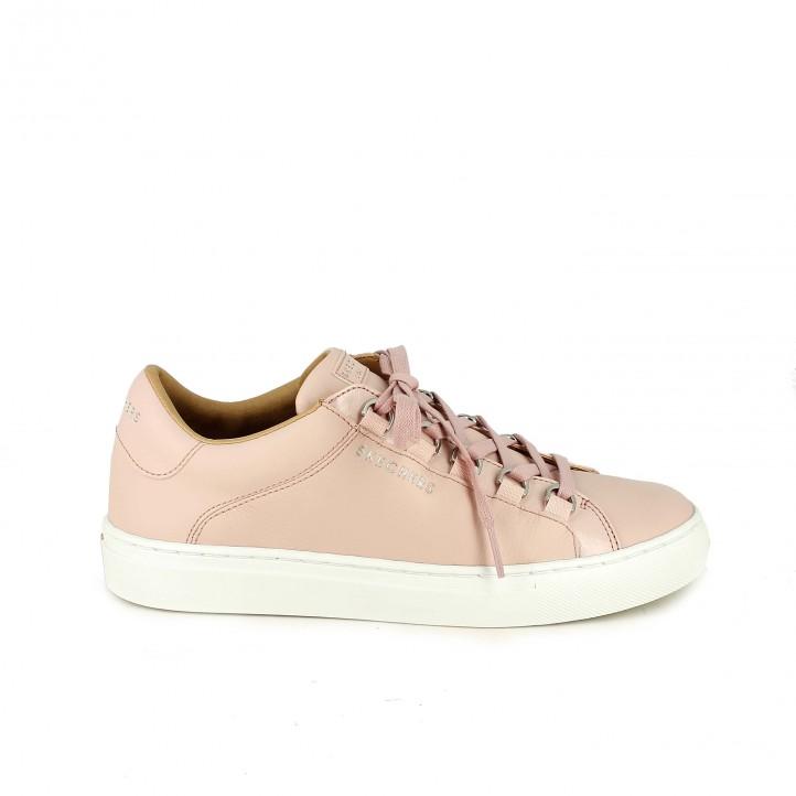 Zapatillas deportivas Skechers rosas de piel - zapatillas rosa