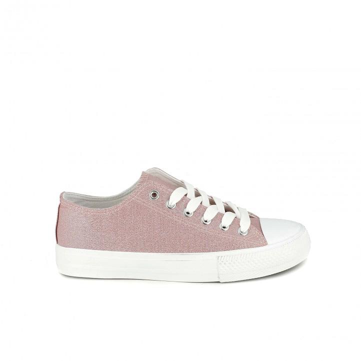 Zapatillas de lona Owel rosas y blancas - zapatillas rosa
